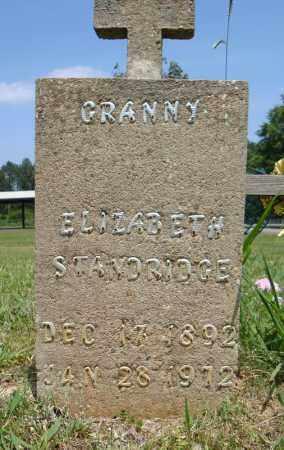 STANDRIDGE, ELIZABETH - Pulaski County, Arkansas | ELIZABETH STANDRIDGE - Arkansas Gravestone Photos