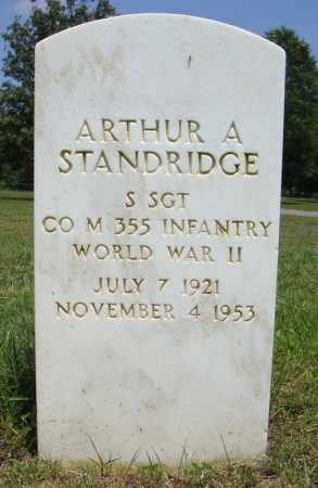 STANDRIDGE (VETERAN WWII), ARTHUR A - Pulaski County, Arkansas | ARTHUR A STANDRIDGE (VETERAN WWII) - Arkansas Gravestone Photos