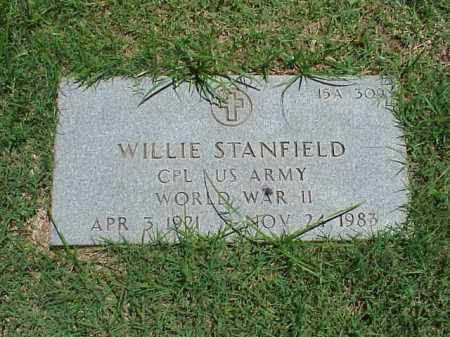 STANFIELD (VETERAN WWII), WILLIE - Pulaski County, Arkansas | WILLIE STANFIELD (VETERAN WWII) - Arkansas Gravestone Photos