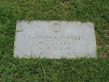 STANLEY (VETERAN WWI), CALVIN A - Pulaski County, Arkansas | CALVIN A STANLEY (VETERAN WWI) - Arkansas Gravestone Photos