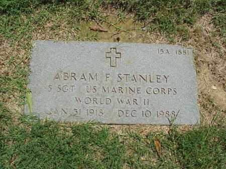 STANLEY (VETERAN WWII), ABRAM F - Pulaski County, Arkansas | ABRAM F STANLEY (VETERAN WWII) - Arkansas Gravestone Photos