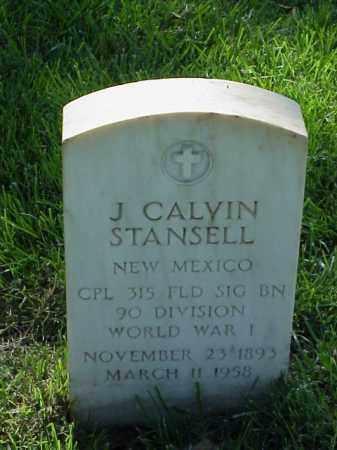 STANSELL (VETERAN WWI), J CALVIN - Pulaski County, Arkansas | J CALVIN STANSELL (VETERAN WWI) - Arkansas Gravestone Photos