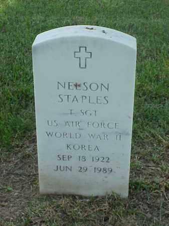 STAPLES (VETERAN 2 WARS), NELSON - Pulaski County, Arkansas | NELSON STAPLES (VETERAN 2 WARS) - Arkansas Gravestone Photos
