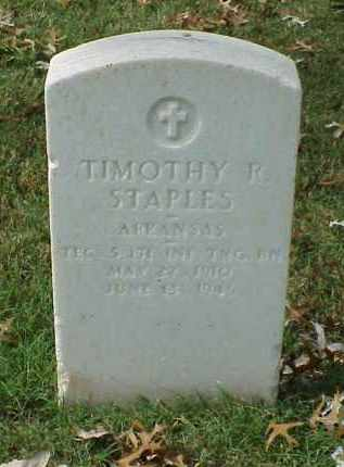 STAPLES (VETERAN WWII), TIMOTHY R - Pulaski County, Arkansas | TIMOTHY R STAPLES (VETERAN WWII) - Arkansas Gravestone Photos