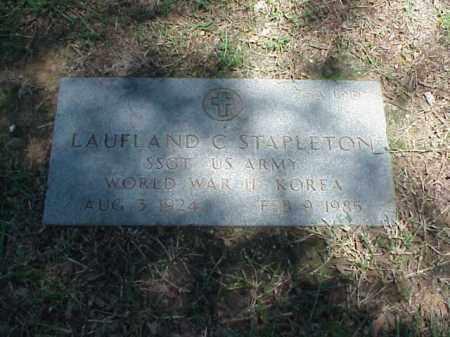 STAPLETON (VETERAN 2 WARS), LAUFLAND C - Pulaski County, Arkansas | LAUFLAND C STAPLETON (VETERAN 2 WARS) - Arkansas Gravestone Photos