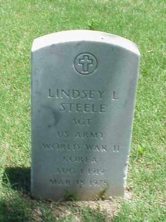 STEELE (VETERAN 2 WARS), LINDSEY L - Pulaski County, Arkansas | LINDSEY L STEELE (VETERAN 2 WARS) - Arkansas Gravestone Photos