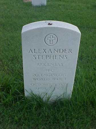 STEPHENS (VETERAN WWI), ALEXANDER - Pulaski County, Arkansas | ALEXANDER STEPHENS (VETERAN WWI) - Arkansas Gravestone Photos