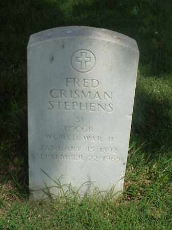 STEPHENS (VETERAN WWII), FRED CRISMAN - Pulaski County, Arkansas | FRED CRISMAN STEPHENS (VETERAN WWII) - Arkansas Gravestone Photos