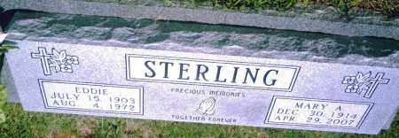 STERLING, EDDIE - Pulaski County, Arkansas | EDDIE STERLING - Arkansas Gravestone Photos