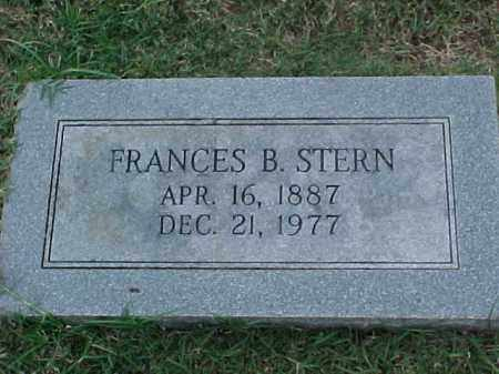 STERN, FRANCES B - Pulaski County, Arkansas | FRANCES B STERN - Arkansas Gravestone Photos