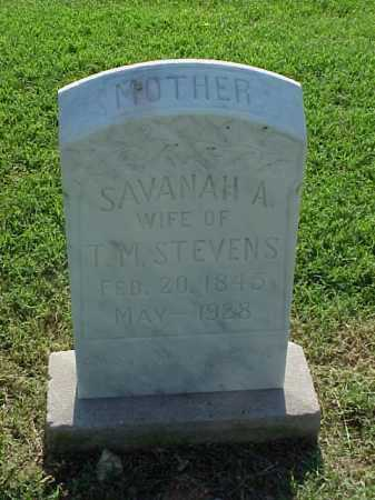 STEVENS, SAVANAH A - Pulaski County, Arkansas | SAVANAH A STEVENS - Arkansas Gravestone Photos