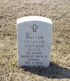 STEVENS (VETERAN 2 WARS), WALTER HERMAN - Pulaski County, Arkansas | WALTER HERMAN STEVENS (VETERAN 2 WARS) - Arkansas Gravestone Photos