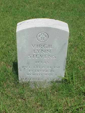 STEVENS (VETERAN WWI), VIRGIL LYNN - Pulaski County, Arkansas | VIRGIL LYNN STEVENS (VETERAN WWI) - Arkansas Gravestone Photos
