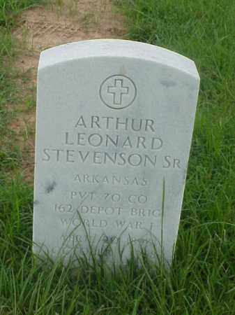 STEVENSON, SR (VETERAN WWI), ARTHUR LEONARD - Pulaski County, Arkansas | ARTHUR LEONARD STEVENSON, SR (VETERAN WWI) - Arkansas Gravestone Photos