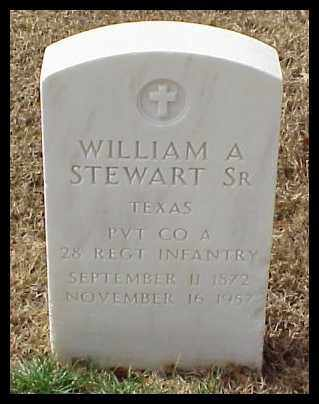 STEWART, SR (VETERAN), WILLIAM A - Pulaski County, Arkansas | WILLIAM A STEWART, SR (VETERAN) - Arkansas Gravestone Photos
