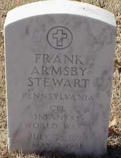 STEWART  (VETERAN WWI), FRANK ARMSBY - Pulaski County, Arkansas | FRANK ARMSBY STEWART  (VETERAN WWI) - Arkansas Gravestone Photos
