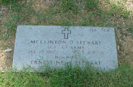 STEWART (VETERAN), MCCLINTON O - Pulaski County, Arkansas | MCCLINTON O STEWART (VETERAN) - Arkansas Gravestone Photos