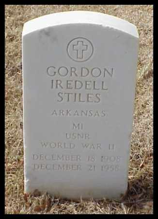STILES (VETERAN WWII), GORDON IREDELL - Pulaski County, Arkansas | GORDON IREDELL STILES (VETERAN WWII) - Arkansas Gravestone Photos