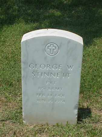 STINNETT (VETERAN WWII), GEORGE W - Pulaski County, Arkansas | GEORGE W STINNETT (VETERAN WWII) - Arkansas Gravestone Photos