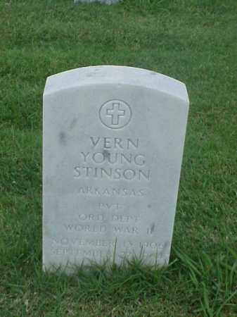 STINSON (VETERAN WWII), VERN YOUNG - Pulaski County, Arkansas | VERN YOUNG STINSON (VETERAN WWII) - Arkansas Gravestone Photos
