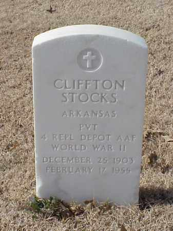 STOCKS (VETERAN WWII), CLIFFTON - Pulaski County, Arkansas | CLIFFTON STOCKS (VETERAN WWII) - Arkansas Gravestone Photos