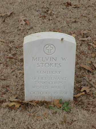 STOKES (VETERAN WWI), MELVIN W - Pulaski County, Arkansas | MELVIN W STOKES (VETERAN WWI) - Arkansas Gravestone Photos