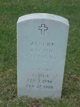 STONE, SR (VETERAN KOR), ALBERT ARCHIE - Pulaski County, Arkansas | ALBERT ARCHIE STONE, SR (VETERAN KOR) - Arkansas Gravestone Photos