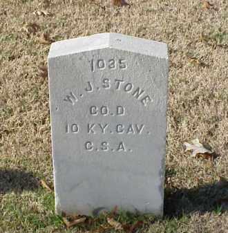 STONE (VETERAN CSA), W J - Pulaski County, Arkansas | W J STONE (VETERAN CSA) - Arkansas Gravestone Photos