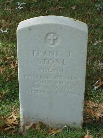 STONE (VETERAN WWI), FRANK T - Pulaski County, Arkansas | FRANK T STONE (VETERAN WWI) - Arkansas Gravestone Photos