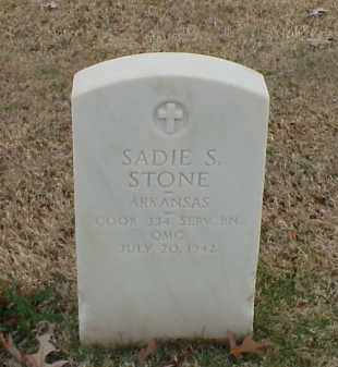 STONE (VETERAN WWI), SADIE S - Pulaski County, Arkansas | SADIE S STONE (VETERAN WWI) - Arkansas Gravestone Photos