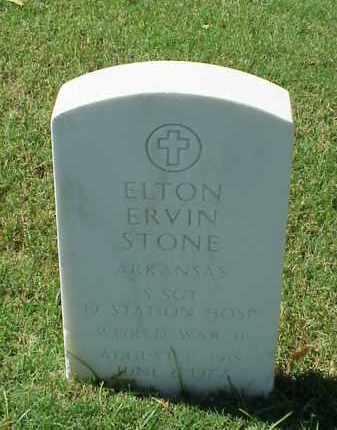 STONE (VETERAN WWII), ELTON ERVIN - Pulaski County, Arkansas | ELTON ERVIN STONE (VETERAN WWII) - Arkansas Gravestone Photos