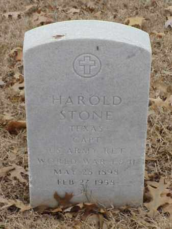 STONE (VETERAN 2 WARS), HAROLD - Pulaski County, Arkansas | HAROLD STONE (VETERAN 2 WARS) - Arkansas Gravestone Photos