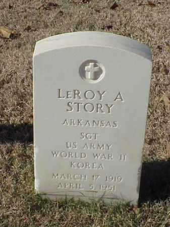 STORY (VETERAN 2 WARS), LEROY A - Pulaski County, Arkansas | LEROY A STORY (VETERAN 2 WARS) - Arkansas Gravestone Photos