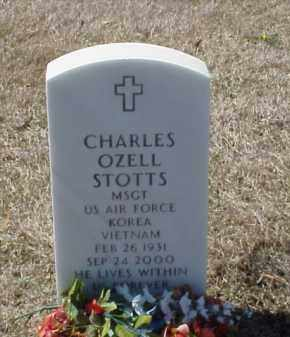 STOTTS (VETERAN 2 WARS), CHARLES OZELL - Pulaski County, Arkansas | CHARLES OZELL STOTTS (VETERAN 2 WARS) - Arkansas Gravestone Photos