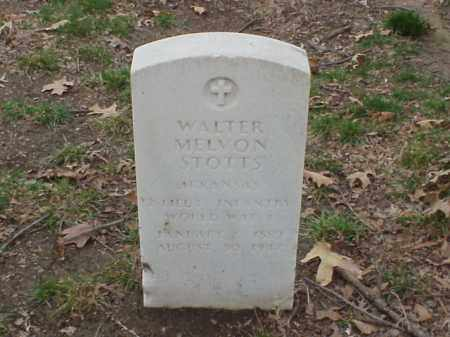 STOTTS (VETERAN WWI), WALTER MELVON - Pulaski County, Arkansas | WALTER MELVON STOTTS (VETERAN WWI) - Arkansas Gravestone Photos