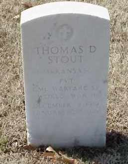 STOUT  (VETERAN WWII), THOMAS D - Pulaski County, Arkansas | THOMAS D STOUT  (VETERAN WWII) - Arkansas Gravestone Photos