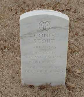 STOUT  (VETERAN WWI), CONIE - Pulaski County, Arkansas | CONIE STOUT  (VETERAN WWI) - Arkansas Gravestone Photos