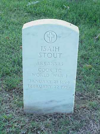 STOUT (VETERAN WWI), ISAIH - Pulaski County, Arkansas | ISAIH STOUT (VETERAN WWI) - Arkansas Gravestone Photos