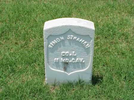 STRAHAN  (VETERAN UNION), SIMON - Pulaski County, Arkansas | SIMON STRAHAN  (VETERAN UNION) - Arkansas Gravestone Photos