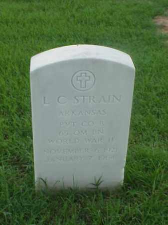 STRAIN (VETERAN WWII), L C - Pulaski County, Arkansas | L C STRAIN (VETERAN WWII) - Arkansas Gravestone Photos