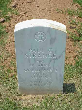 STRANGE (VETERAN 3 WARS), PAUL C - Pulaski County, Arkansas | PAUL C STRANGE (VETERAN 3 WARS) - Arkansas Gravestone Photos