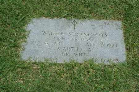 STRANGWAYS (VETERAN WWII), WALTER - Pulaski County, Arkansas | WALTER STRANGWAYS (VETERAN WWII) - Arkansas Gravestone Photos