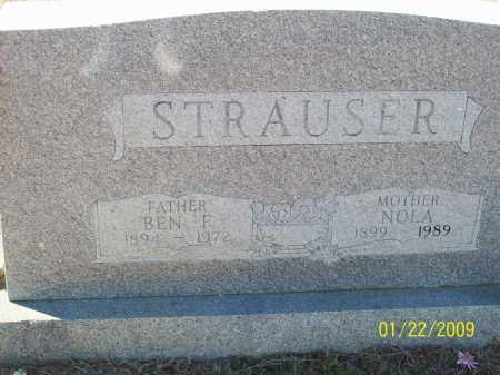 STRAUSER, NOLA - Pulaski County, Arkansas | NOLA STRAUSER - Arkansas Gravestone Photos