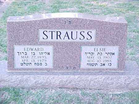 STRAUSS, ELSIE - Pulaski County, Arkansas | ELSIE STRAUSS - Arkansas Gravestone Photos
