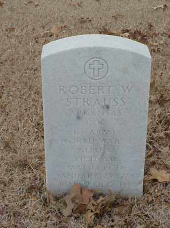 STRAUSS (VETERAN 3 WARS), ROBERT W - Pulaski County, Arkansas | ROBERT W STRAUSS (VETERAN 3 WARS) - Arkansas Gravestone Photos