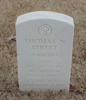 STREET  (VETERAN WWI), THOMAS N - Pulaski County, Arkansas | THOMAS N STREET  (VETERAN WWI) - Arkansas Gravestone Photos