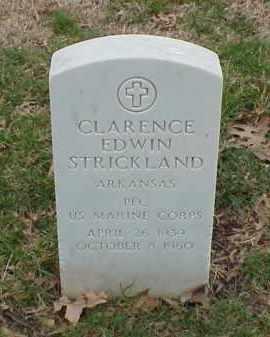 STRICKLAND  (VETERAN), CLARENCE EDWIN - Pulaski County, Arkansas | CLARENCE EDWIN STRICKLAND  (VETERAN) - Arkansas Gravestone Photos