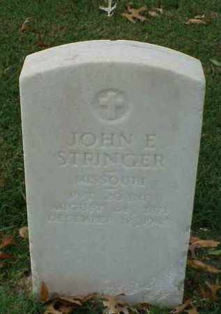 STRINGER (VETERAN WWI), JOHN E - Pulaski County, Arkansas | JOHN E STRINGER (VETERAN WWI) - Arkansas Gravestone Photos