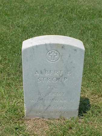 STROUP (VETERAN WWII), ALBERT B - Pulaski County, Arkansas | ALBERT B STROUP (VETERAN WWII) - Arkansas Gravestone Photos