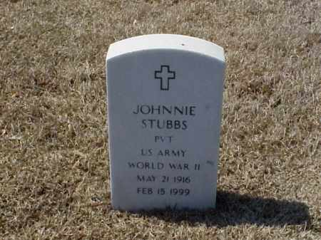 STUBBS (VETERAN WWII), JOHNNIE - Pulaski County, Arkansas | JOHNNIE STUBBS (VETERAN WWII) - Arkansas Gravestone Photos